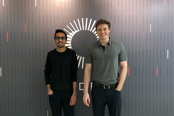 Sachit Ramjee (L) and Ryan Dick expect to graduate in 2019 from The University of Toronto's MScAC program.