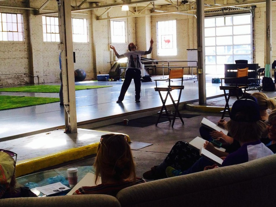Art students from Metropolitan State University of Denver sketching during Wonderbound rehearsal at Junction Box. Photo by  Amber Blais, 2014