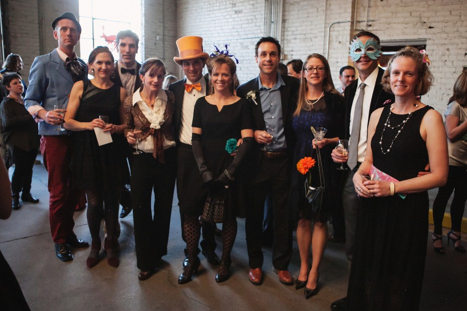 Hare Ball Guest at Junction Box. Photo by  Amanda Tipton, 2014