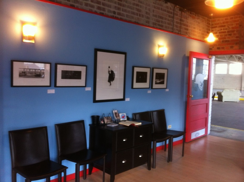 Prints by Eric Dallimore hanging in the Wonderbound offices at Junction Box. Photo by  Garrett Ammon, 2014