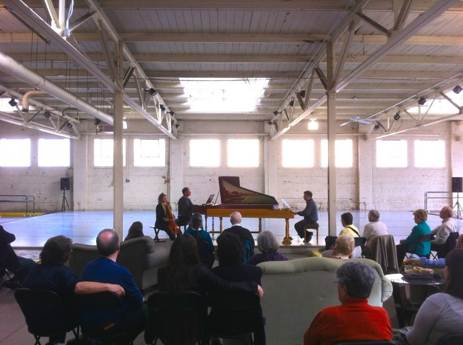 """Baroque Chamber Orchestra of Colorado members present """"Baroque Out of Bounds"""" at Junction Box. Photo by  Garrett Ammon, 2014"""