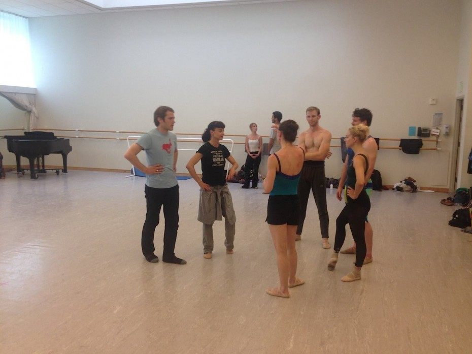 Garrett Ammon and Dawn Fay working with Smuin Ballet Company Artists in San Francisco. Photo courtesy of Smuin Ballet. Garrett Ammon and Dawn Fay working with Smuin Ballet Company Artists in San Francisco. Photo courtesy of Smuin Ballet.