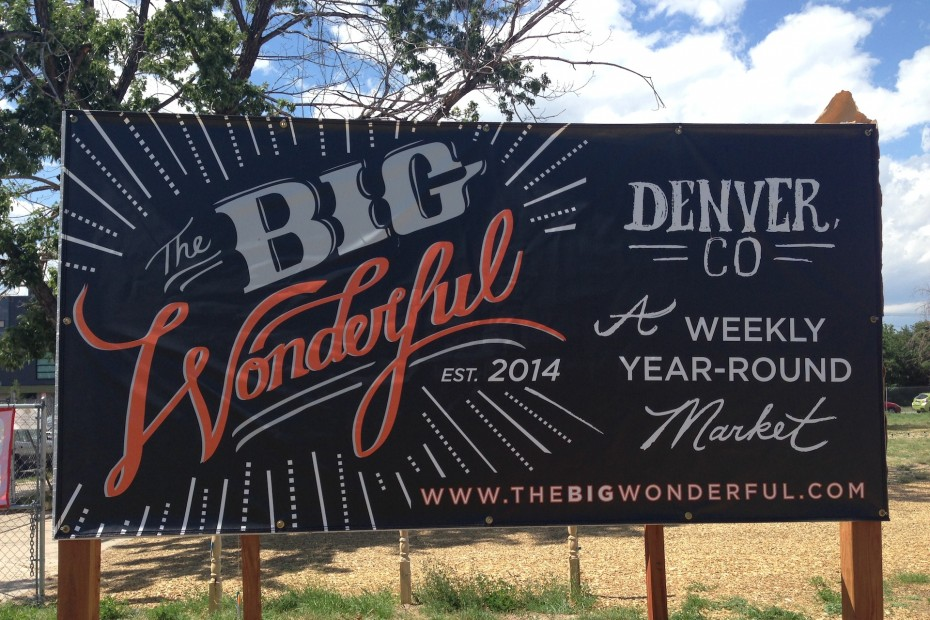 The sign for TheBigWonderful at Denver's Sustainability Park. Photo by Meredith Strathmeyer.