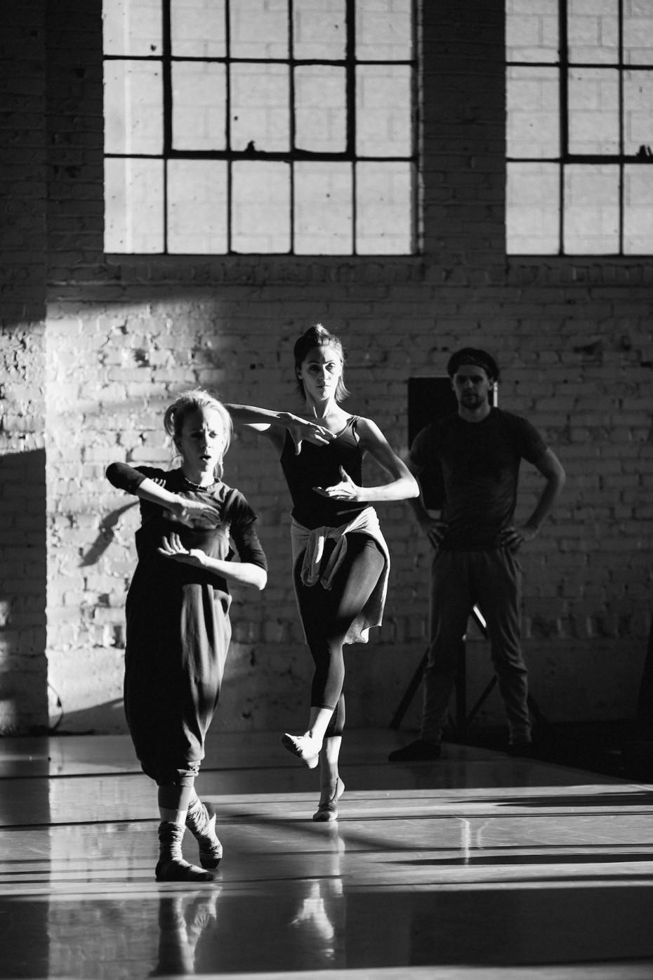 Wonderbound Company Artists Sarah Tallman and Amanda Copple at Junction Box. Photo by  Amanda Tipton, 2014