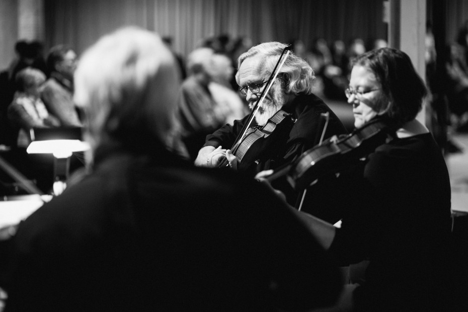 Confluence String Quartet playing at Junction Box. Photo by  Amanda Tipton, 2014