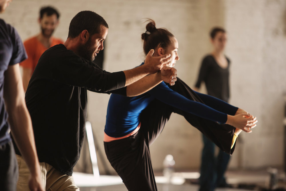 Liat Dror Nir Ben Gal Dance in rehearsal with Wonderbound. Photo by  Amanda Tipton . 2014.