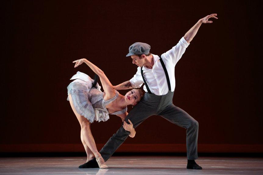 "Smuin's dancer Erica Felsch and Benjamin Warner in Garrett Ammon's ""Madness, Rack, and Honey."" Photo by Chris Hardy. 2016."