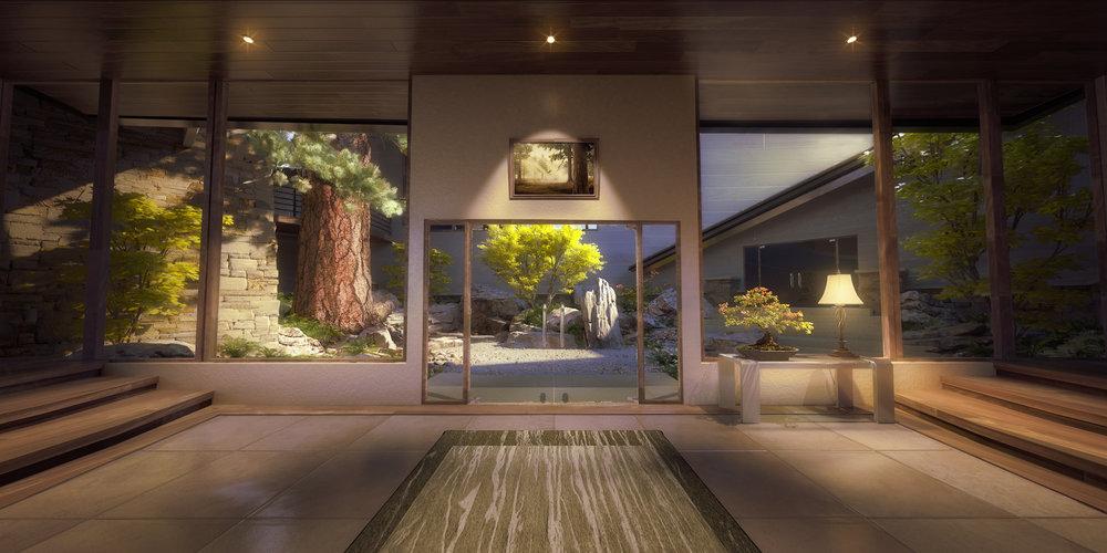 garden 3d rendering