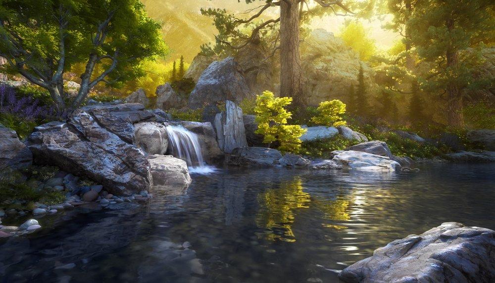 waterfall rendering