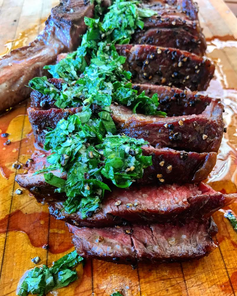 Cowboy Steak with Horseradish Gremolata
