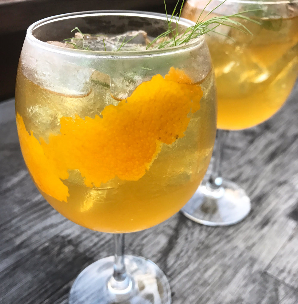 Orange Fennel Sangria