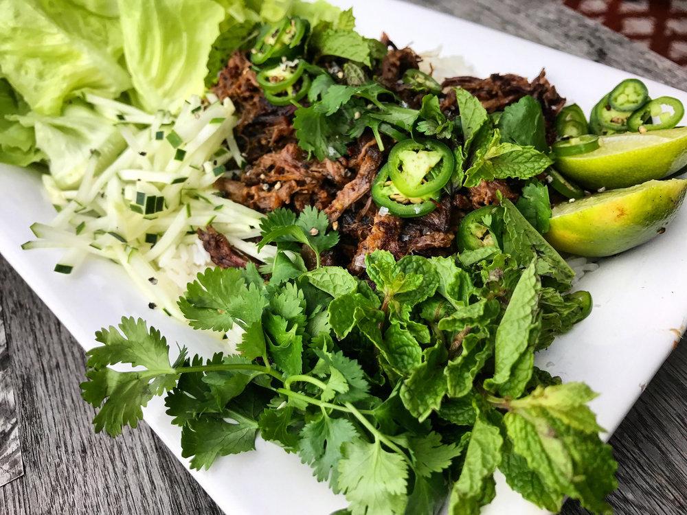 Lemongrass Short Rib Lettuce Wraps