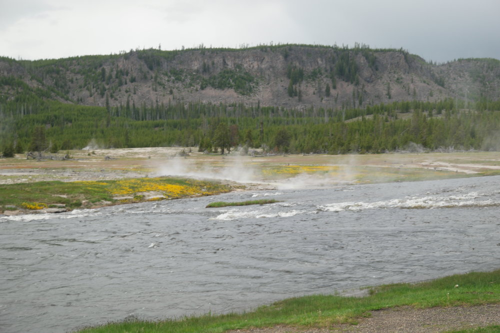 The river in Spring, brimming with water from the snow melt.