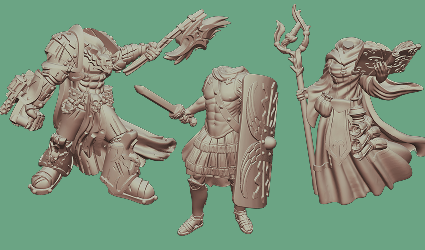 Step 2 - Choose a Body - After the scan is complete, you'll be ready to choose the body that we will use to construct your miniature. Our range is expanding quickly with monthly themed releases. Our goal is to have something that can work for everyone, from Historical Wargamers wanting to release their inner Napoleon at Waterloo, to Roleplayers looking to create a character that is truly reflects the player.We have both Male and Female bodies currently available. We have over 50 different pre-sculpted bodies available, and we have no plans to stop there- we're just getting started.