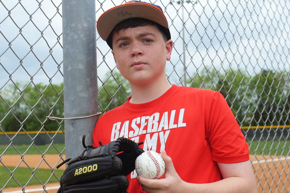 Drew Estes - After Drew was diagnosed with Leukemia, one of the biggest hurdles was giving up the sports that he loved. Thankfully he was able to return to baseball for his eighth-grade year.