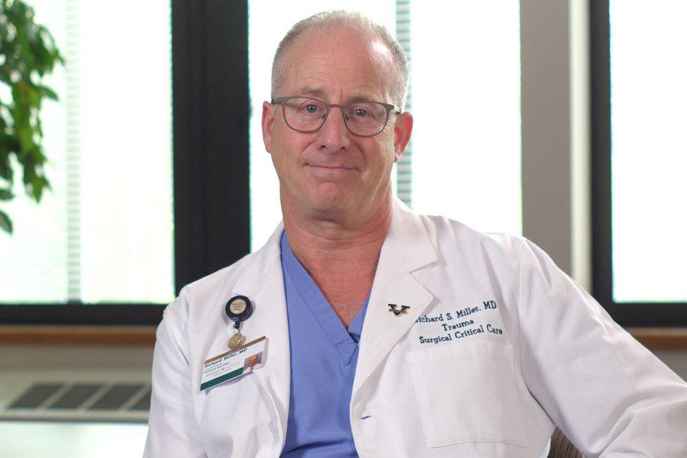 Richard S. Miller - As the leader of one of the busiest trauma units in the region, Dr. Miller and his team faced three trauma cases that were very out of the ordinary this year.