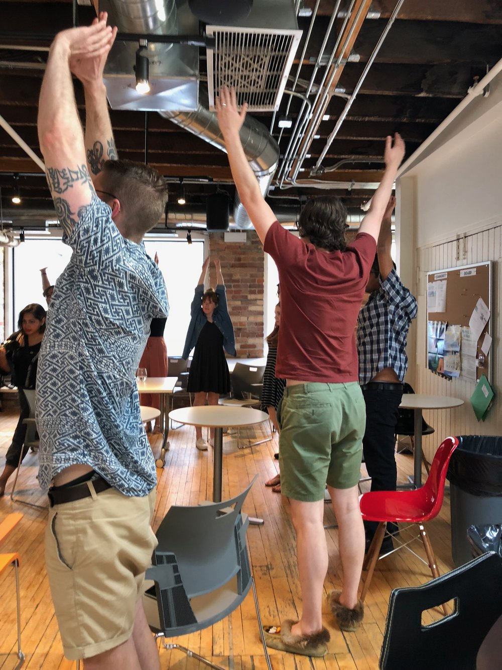 Simple Sun Breaths - the perfect intro to our workplace movement classes.