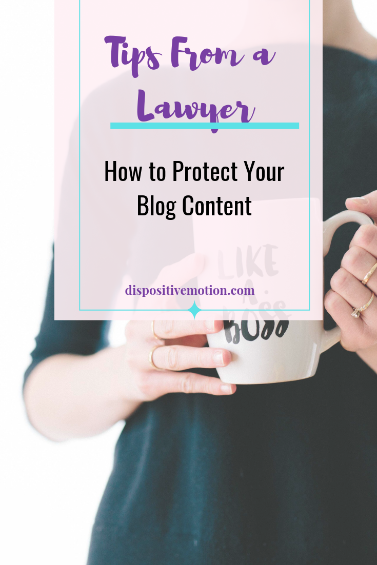 Whether you blog for business or pleasure, blogging carries an enormous amount of responsibility. Here are five laws every blogger needs to know about blogging legally and to protect your blog content.