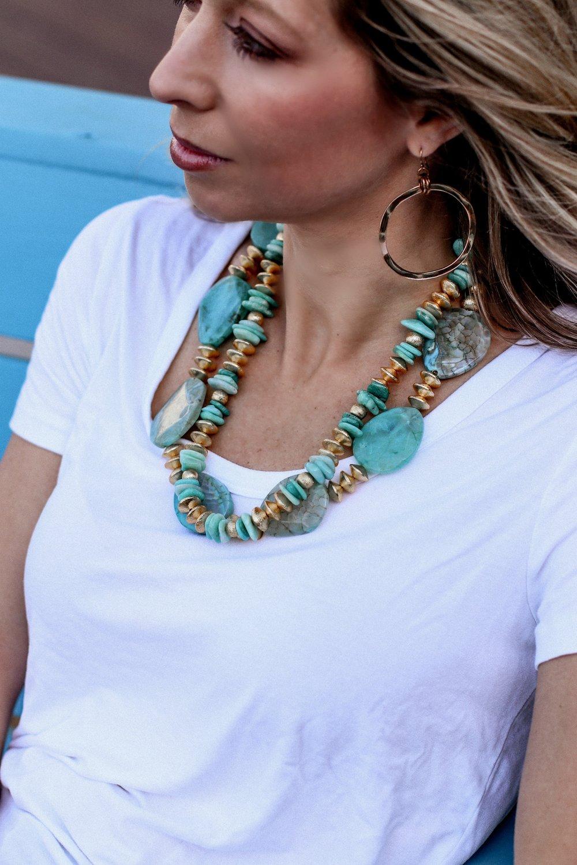 Lynn Winter wearing Stacked Jewels