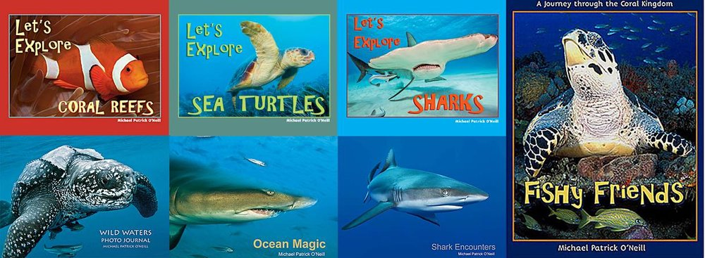 Michael's seven non-fiction marine life books combine the arts (photography), science (marine biology), conservation and writing and fit in perfectly with school curriculums focusing on STEM topics and information research.