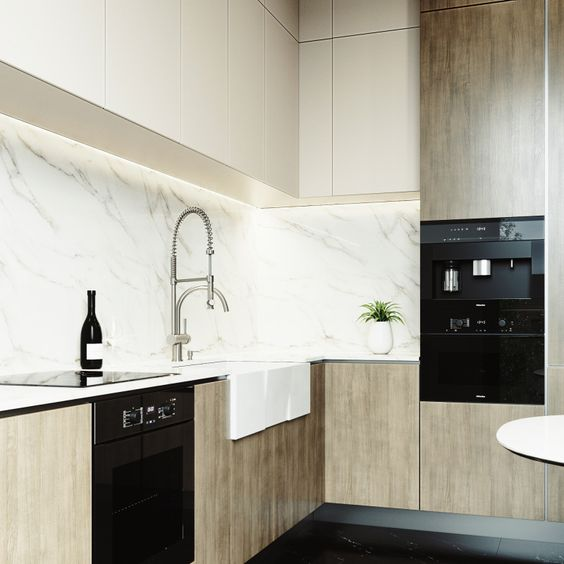"""With its pull-down spray head that's extendable up to 28"""" and its separate pot filler spout, the VIGO Dresden Pull-Down Spray Kitchen Faucet is a highly functional piece perfect for any kitchen remodel. www.vigoindustries.com"""