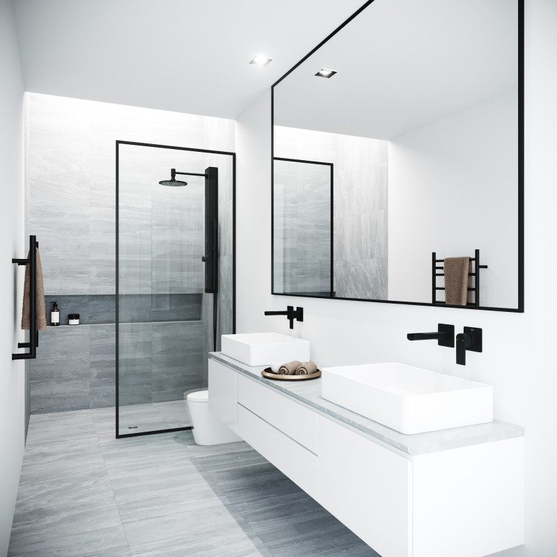 Bring modern luxury and a spacious, spa-like feel to your contemporary bathroom with the VIGO Fixed Glass Shower Screen.  www.vigoindustries.com