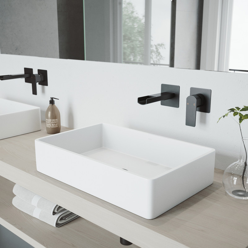 The VIGO Atticus Wall Mount Bathroom Faucet | Bathroom faucets