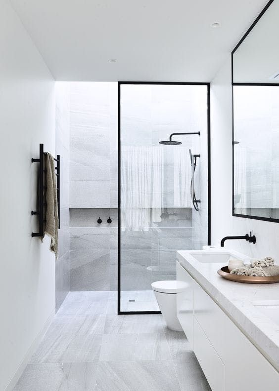 5 ways to use black in the bathroom! We've got a few techniques for you to incorporate black into your bathroom without it feeling too gothic. Click to see more! | VIGO Industries - Bathroom Design Ideas - Bathroom Remodel.