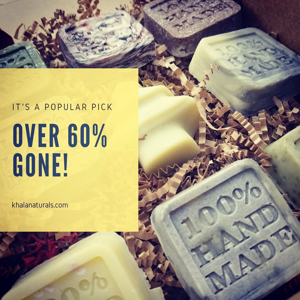 9 Bar Soap Sample Box! - Almost gone!