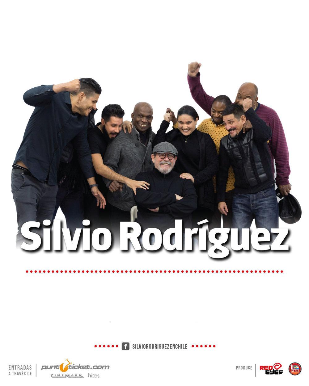 Silvio Rodriguez8, 9 y 11 de OctubreSantiago - Movistar Arena