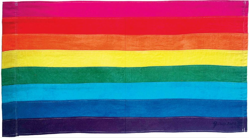 Gilbert Baker original Rainbow Flag design, 1978