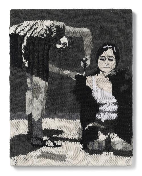 Kate Just, Feminist Fan #18 (Yoko Ono, Cut Piece, 1965), 2016