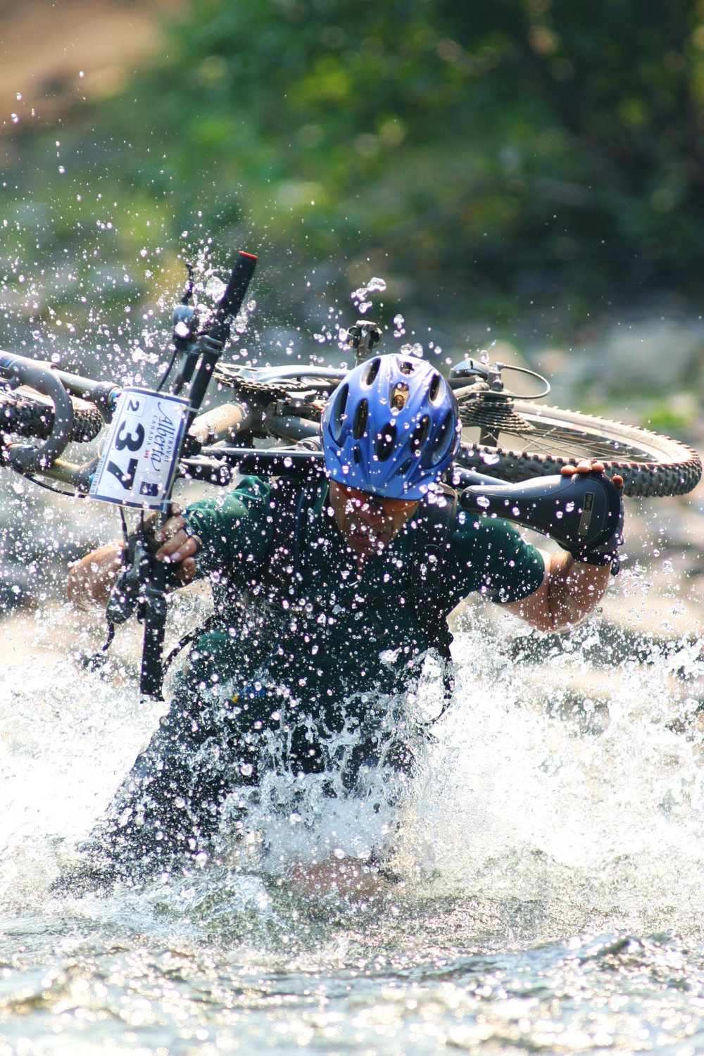 TransRockies Challenge mountain bike stage race river crossing