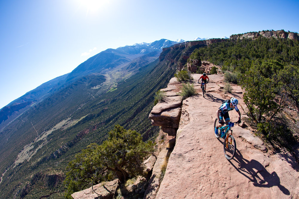 Geoff Kabush leads the TransRockies Race Series Moab Rocks 3 day stage race