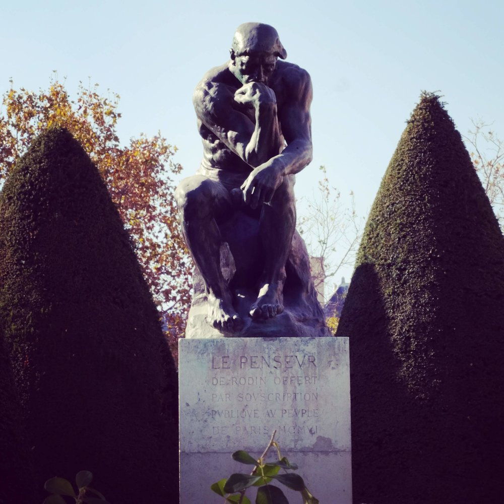 The cast of The Thinker you can see at the Musée Rodin