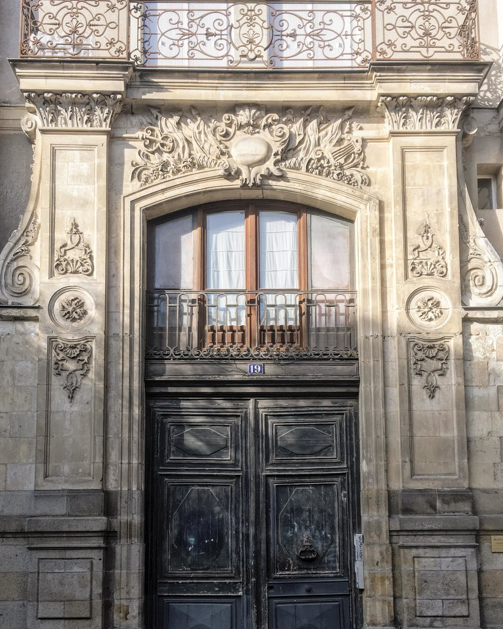 One last image, an ornate entry way in Rennes with my lucky number 19