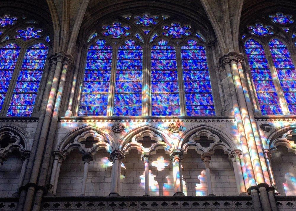 Stunning reflections inside  Cathédrale Saint-Vincent