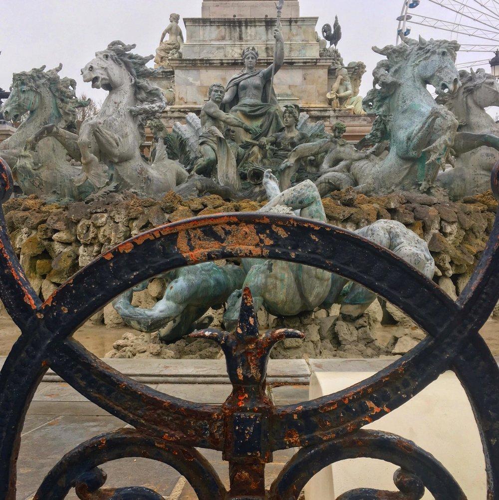 Monument aux Girondins  at  la Place des Quinconces  with a fleur de lis. I'm always on the hunt!