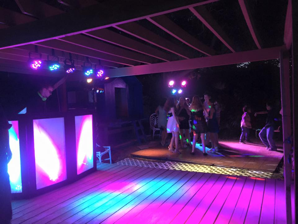 Dance Lighting - $200 - Add light stands of colorful LED lights and will be aimed onto your dance floor. Adding a whole new level of energy to any event.