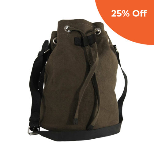 Bucket Bag | Taupe Canvas   CAUSEGEAR $95.00   Save 20% off your first order  with promo code:  CGGOOD20