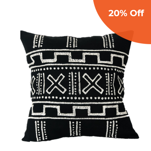 Black Mudcloth Style Pillow     BATIQUA $75.00   Save 20% off your first order  with promo code:  DONEGOOD