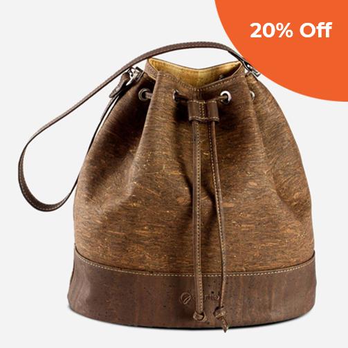 Cork Bucket Bag   Corkor  $144.50   Save 20% off orders over $100  with promo code:  corkordonegood20