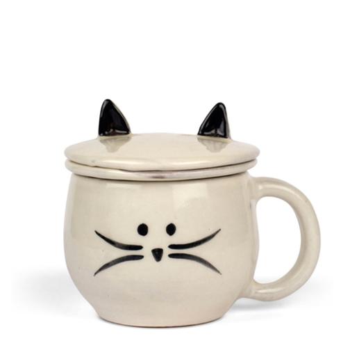 Meow Mug & Tea Strainer   GlobeIn $30.00