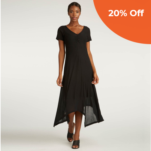 Crepe Maxi Dress   INDIGENOUS  $138.00   Save 20% off your order  with promo code:  DoneGood