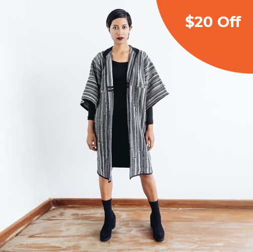 Chanlina Jacket - Black     &     Grey Pleang   Tonlé $220.00   Save $20 off orders over $100  with promo code:  tonledonegood20