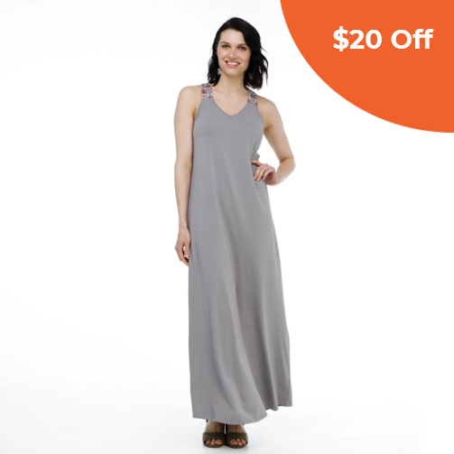 The ROWAN Dress in Cool Grey   Elegantees $66.00   Save $20 off orders over $100  with promo code: DONEGOOD
