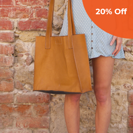 City Classic Leather Tote   Deux Mains $149.99   Save 20% off orders over $100  with promo code: DONEGOOD