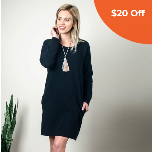 Sweatshirt Dress   Tonlé  $66.00   Save $20 off orders over $100  with promo code: tonledonegood20
