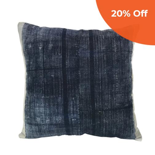 Vintage Batik Indigo Pillow   SLATE + SALT $52.00   Save 20% off your first order  with promo code: DONEGOOD