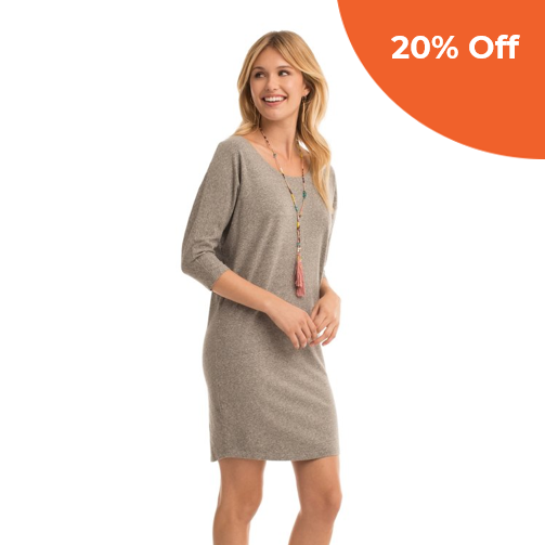 Flax Quinn Dress   Synergy Organic Clothing $50.40   Save 20% off your order  with promo code: donegood